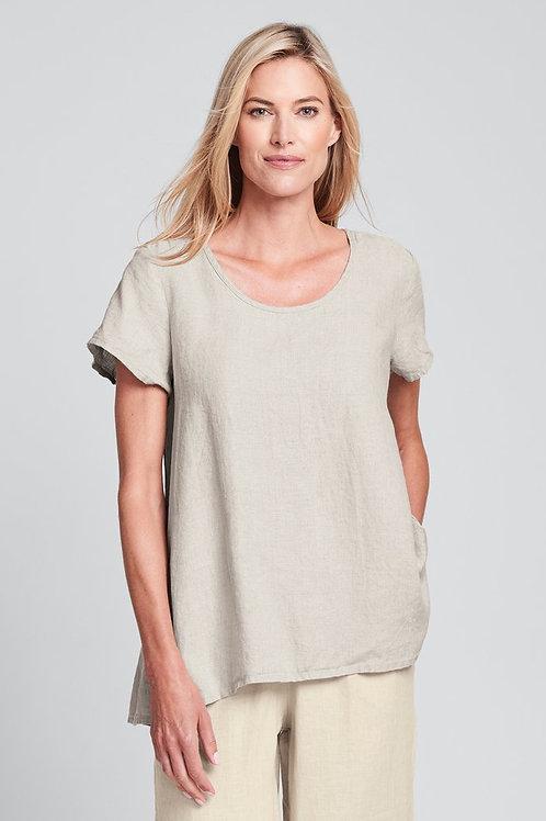 FLAX Blossom Blouse - Linen Shirt - Natural