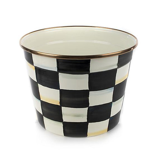 Courtly Check Enamel Mum Pot