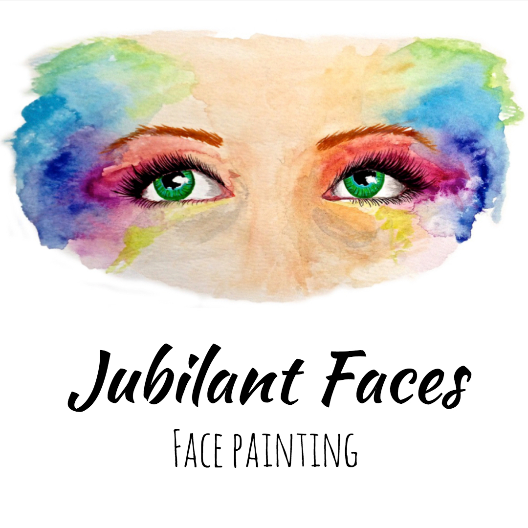 Jubilant faces face painting