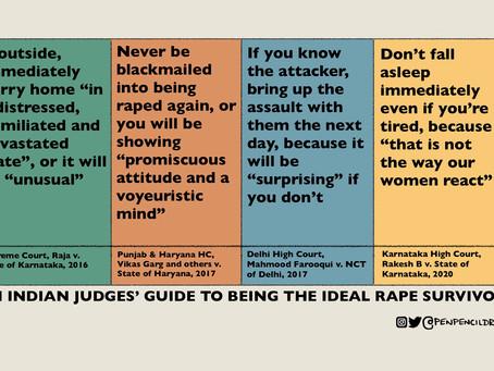 Courts' Misogynistic Rules For Rape Survivors