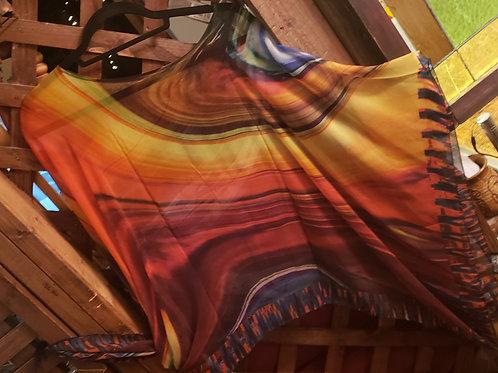 Silk Poncho by Macke