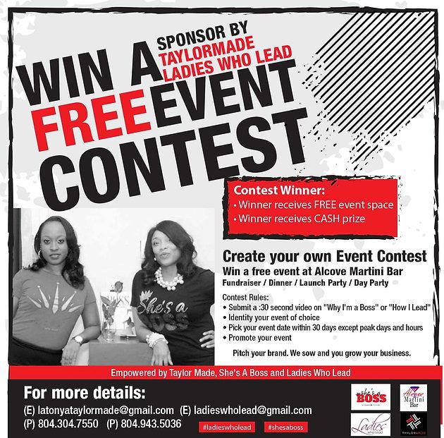 WIN A FREE EVENT CONTEST