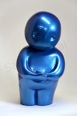 tendresse bleu metallique