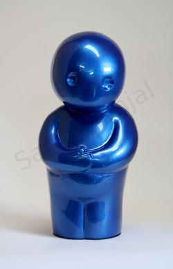 l'attente bleu metallique