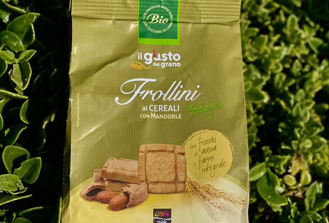 BISCUITS WITH CEREAL FLAKES, SPELLED AND ALMONDS 300g - FRUTTI DEL SOLE