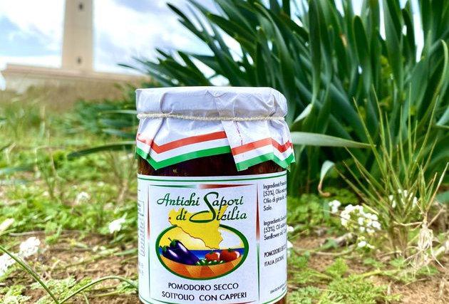 DRIED TOMATOES IN EXTRA VIRGIN OLIVE OIL WITH CAPERS - ANTICHI SAPORI DI SICILIA