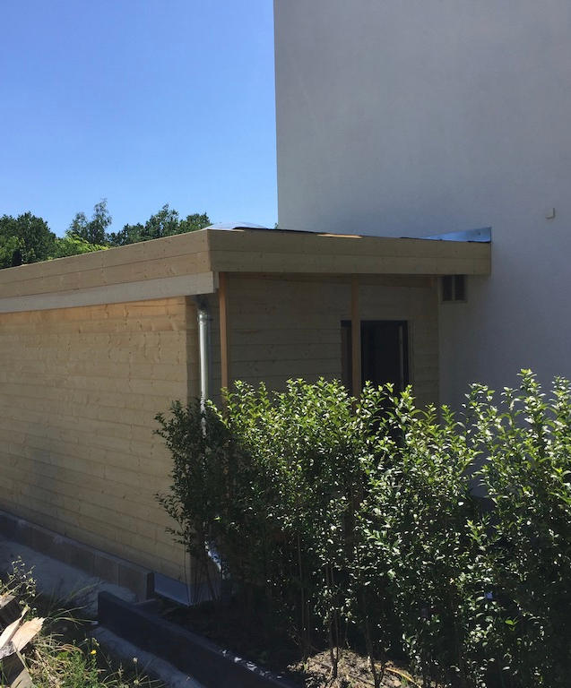 Carportanbau mit Gründach
