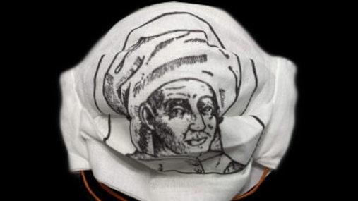 Josquin wears a turban