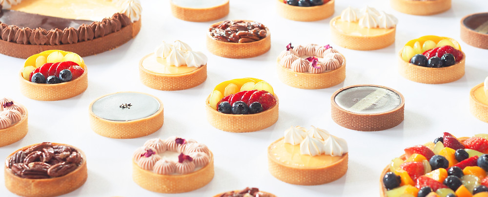 Wunderfolks assorted flavours of handmade tarts such as Mixed Fruit Tart, Chocolate Tart and Lychee Tart