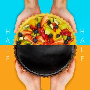 Half Fruitilicious Fruit and Dark Chocolate Tart