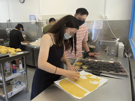 Friends from Bumblescoop visited our kitchen and tried to make their own tart shells!