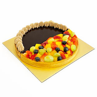 Duo Flavour Tart - Fruitilicious Fruit and Valrhona Dark Choc