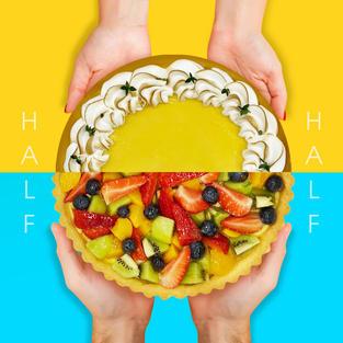 Half Lemony Meringue and Fruitilicious Fruit Tart