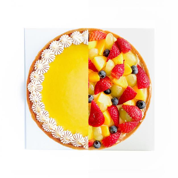 Duo Flavour Tart - Lemony Meringue and Fruitilicious Fruit