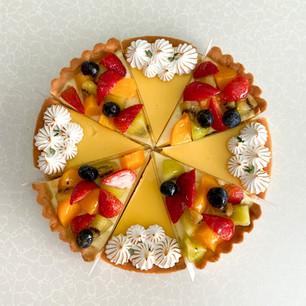 Lemon Meringue and Fruit Tart