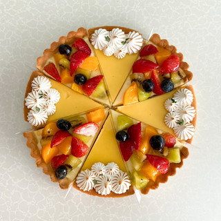 Lemon Meringue and Fruit Tart