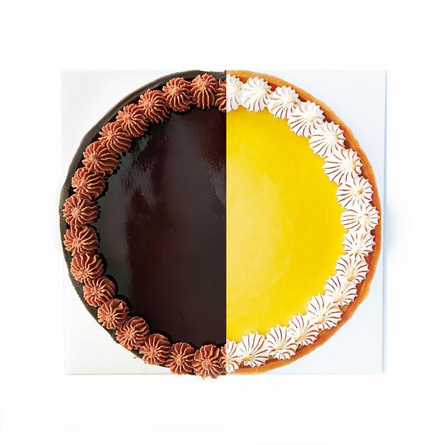 Duo Flavour Tart - Valrhona Dark Choc and Lemony Meringue