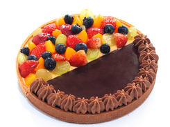 Duo Flavour Tart - Fruitilicious Fruit and Valrhona Dark Choc