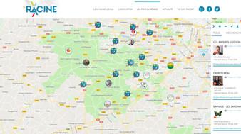 La carte du réseau des commerçants