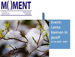 Verslag 1 februari 2020: Nieuw verenigingsjaar Beroepsvereniging vzw MOMENT