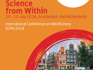 ICM-Juli '18: vzw MOMENT aanwezig op International Conference of Mindfulness