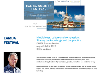 28 & 29 augustus 2020 | EAMBA Teachers'  Festival: Mindfulness, culture and compassion (Enge