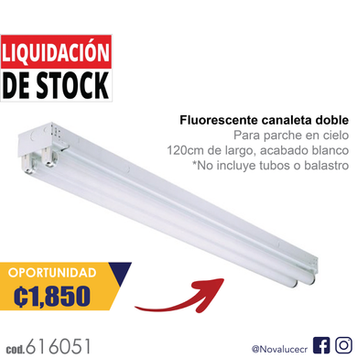 Fluorescente canaleta doble