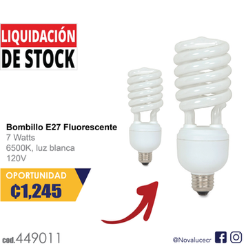 Bombillo E27 Fluorescente
