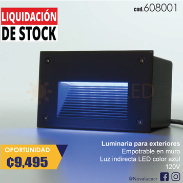 Luminaria LED AZUL