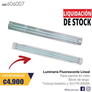 Luminaria Fluorescente lineal