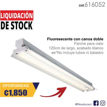 Fluorescente con canoa doble