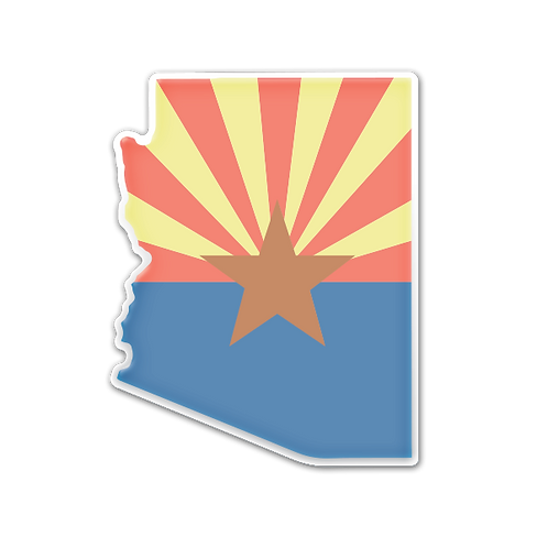 Faded AZ - Domed Decal