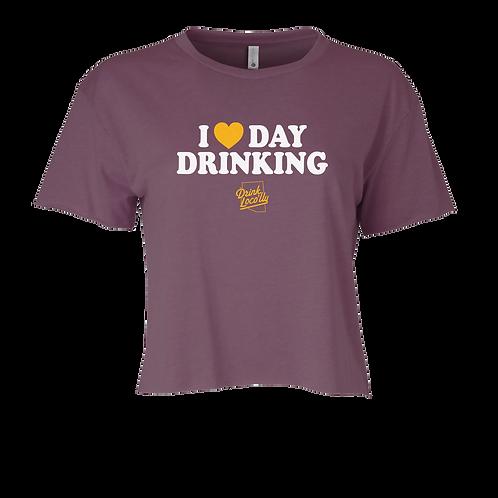I Love Day Drinking - Women's Cali Crop Tee