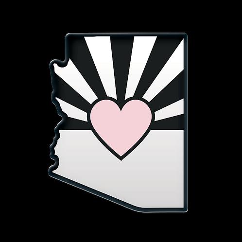 Love AZ - Domed Decal