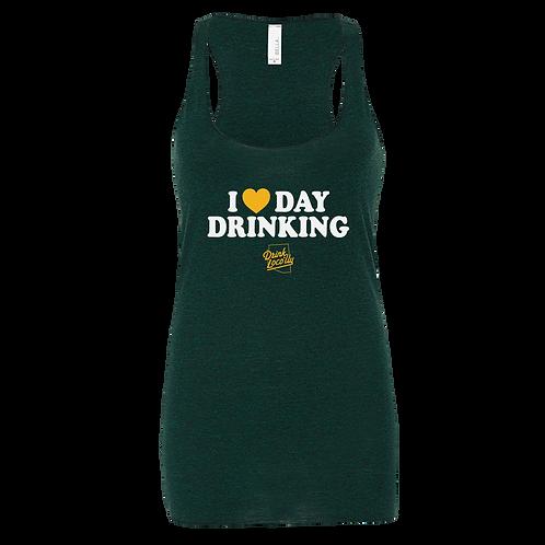 I Love Day Drinking - Women's Triblend Racer Tank