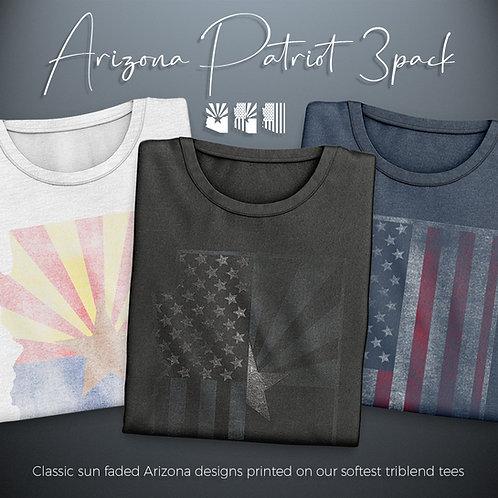 Arizona Patriot 3 Pack - Triblend Tees