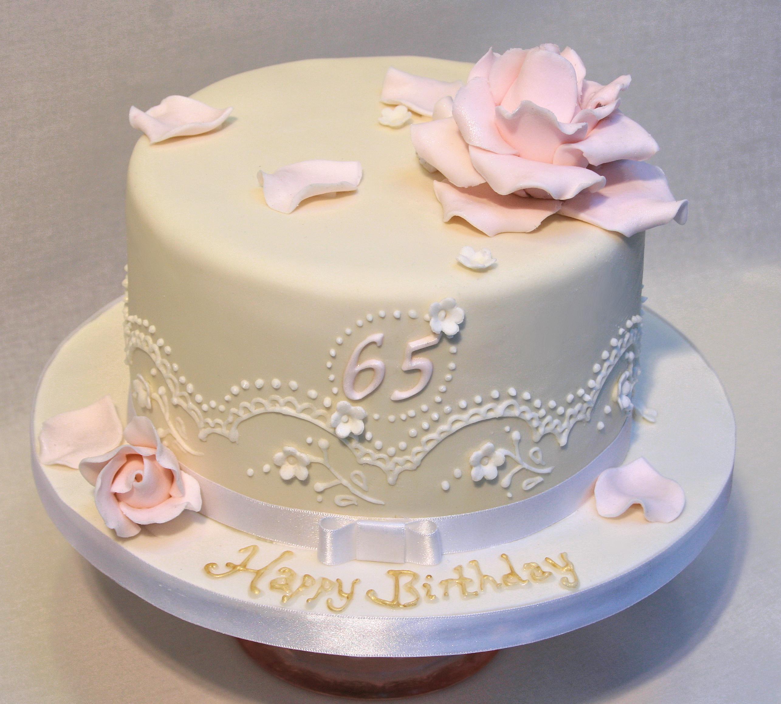 Vintage Rose Birthday Cake