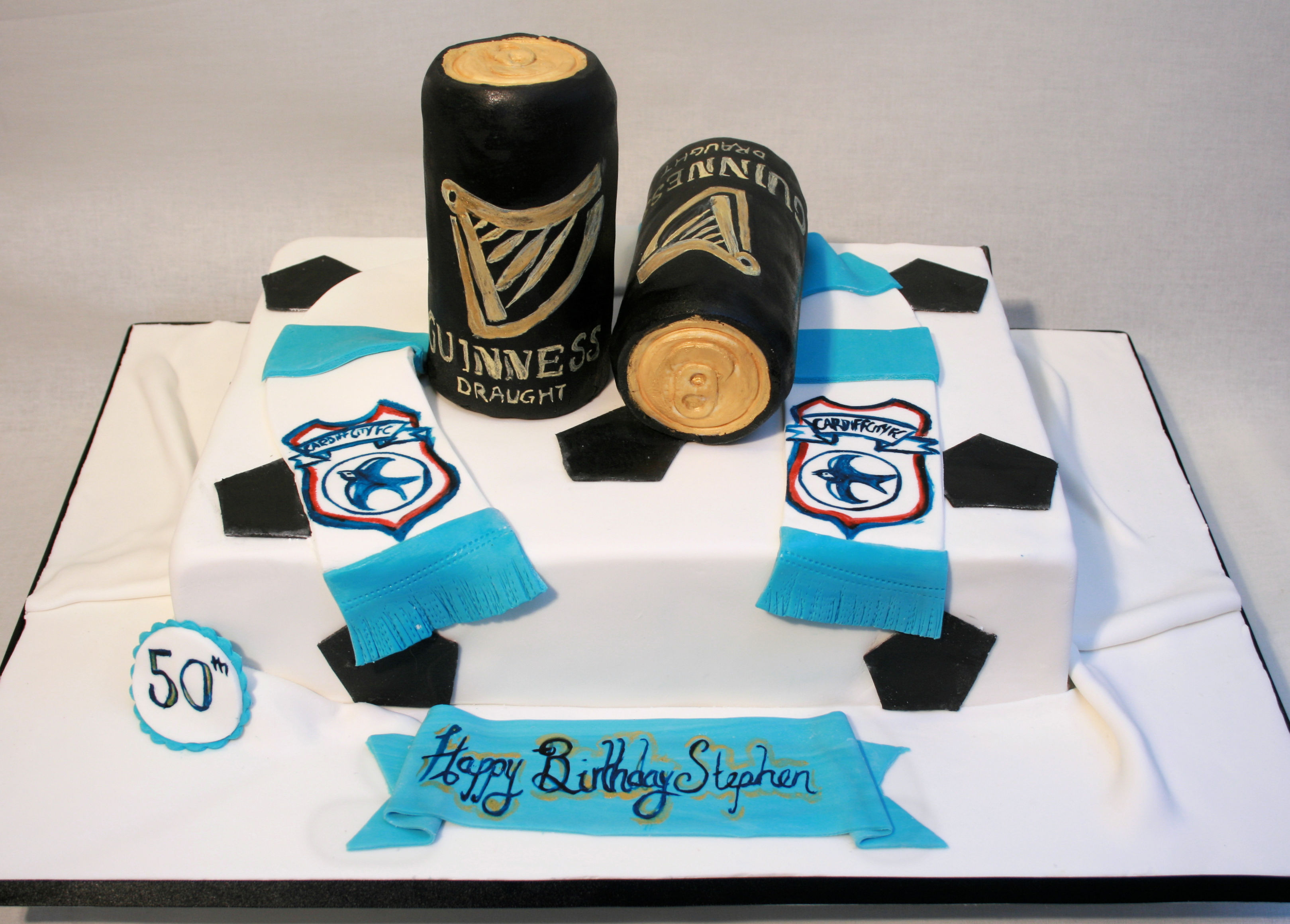 Guinness Cardiff Blues cake