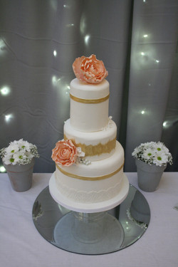 Gold and Peony Cake