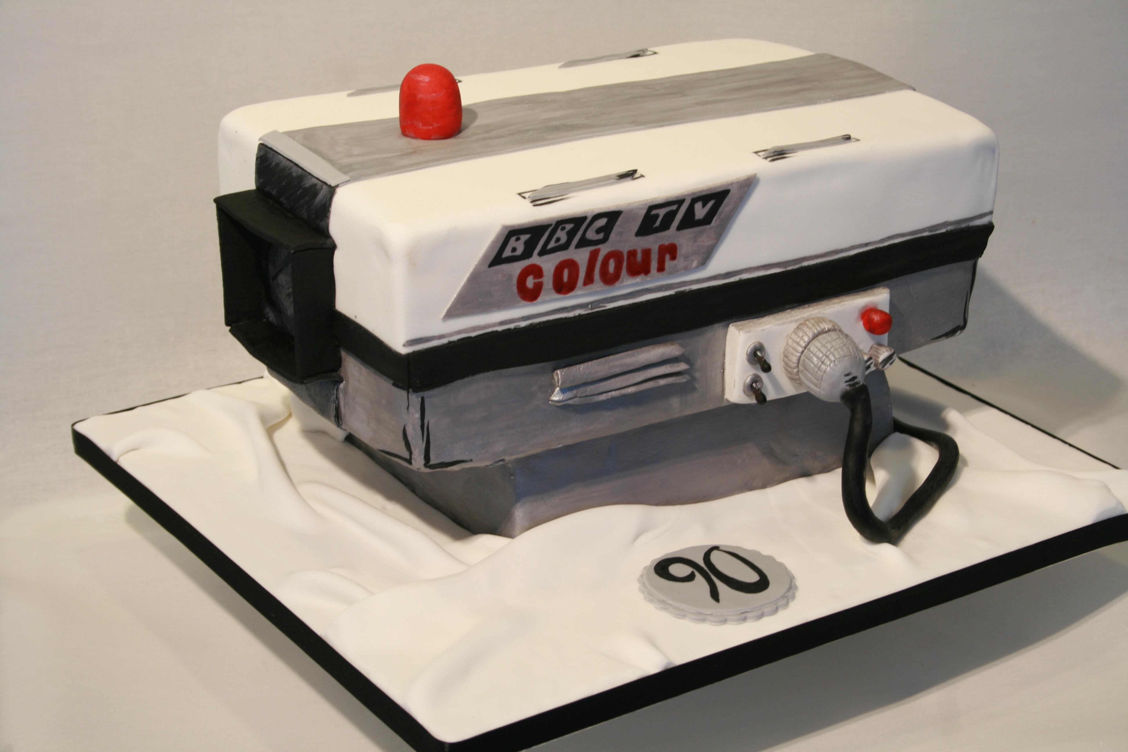 BBC broadcasting camera cake