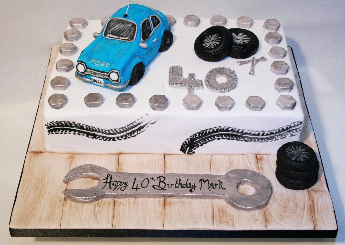 40th Mechanic Car Birthday Cake