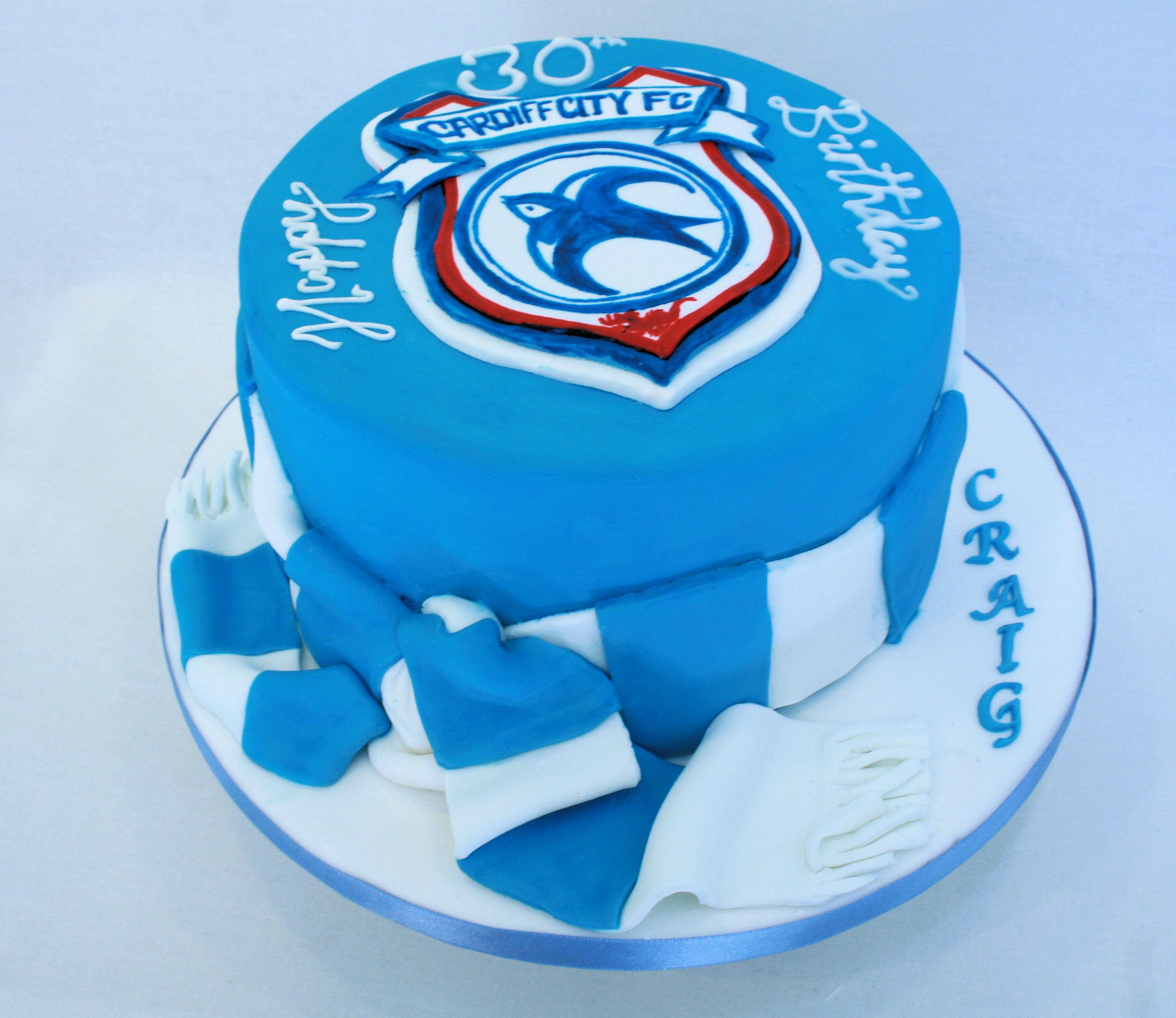 Cardiff City Birthday Cake