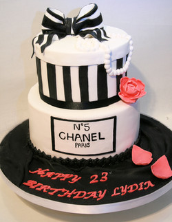 Chanel No5 Birthday Cake