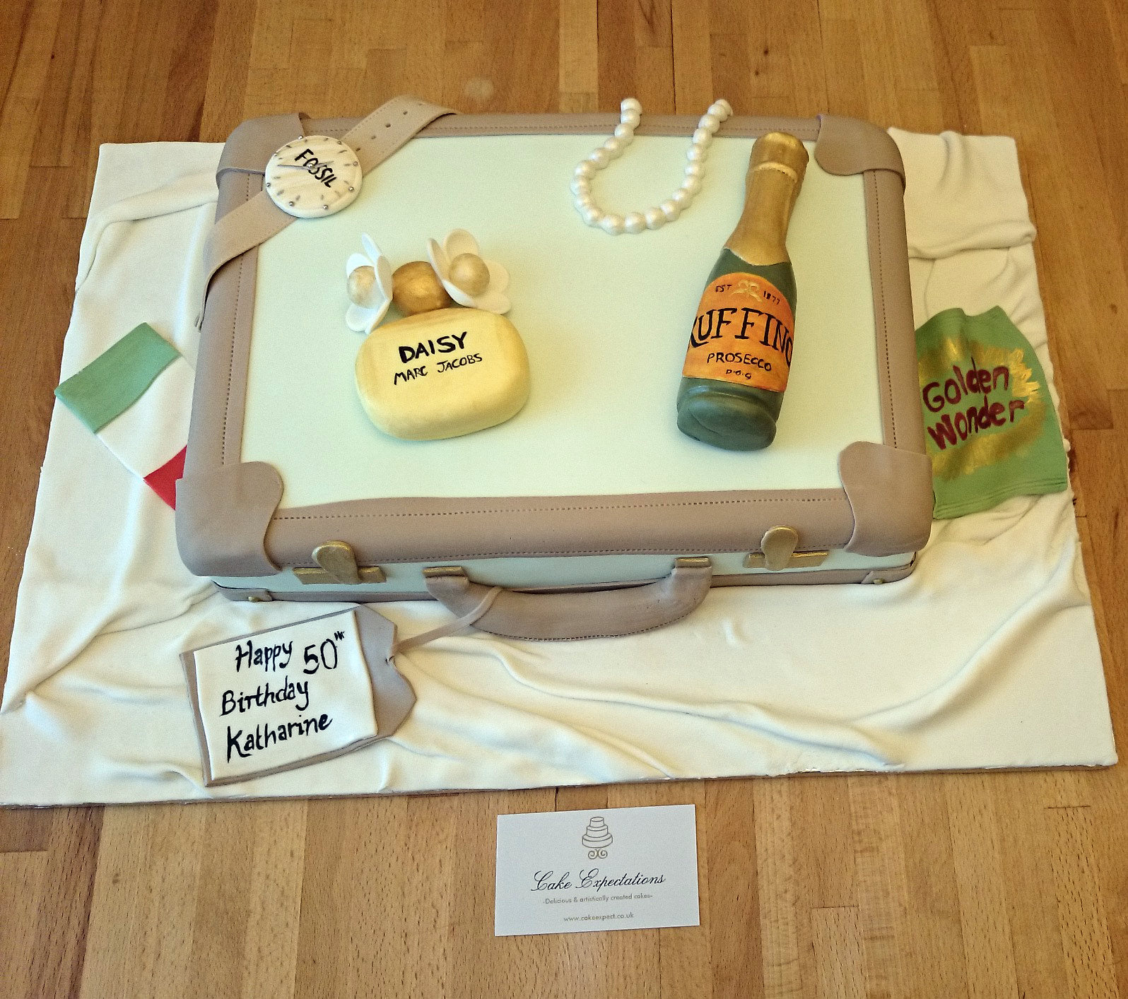 'Off to Italy' Suitcase Cake