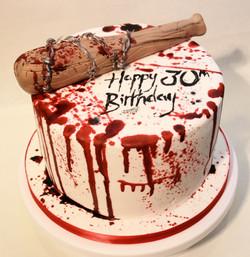 Walking Dead theme cake