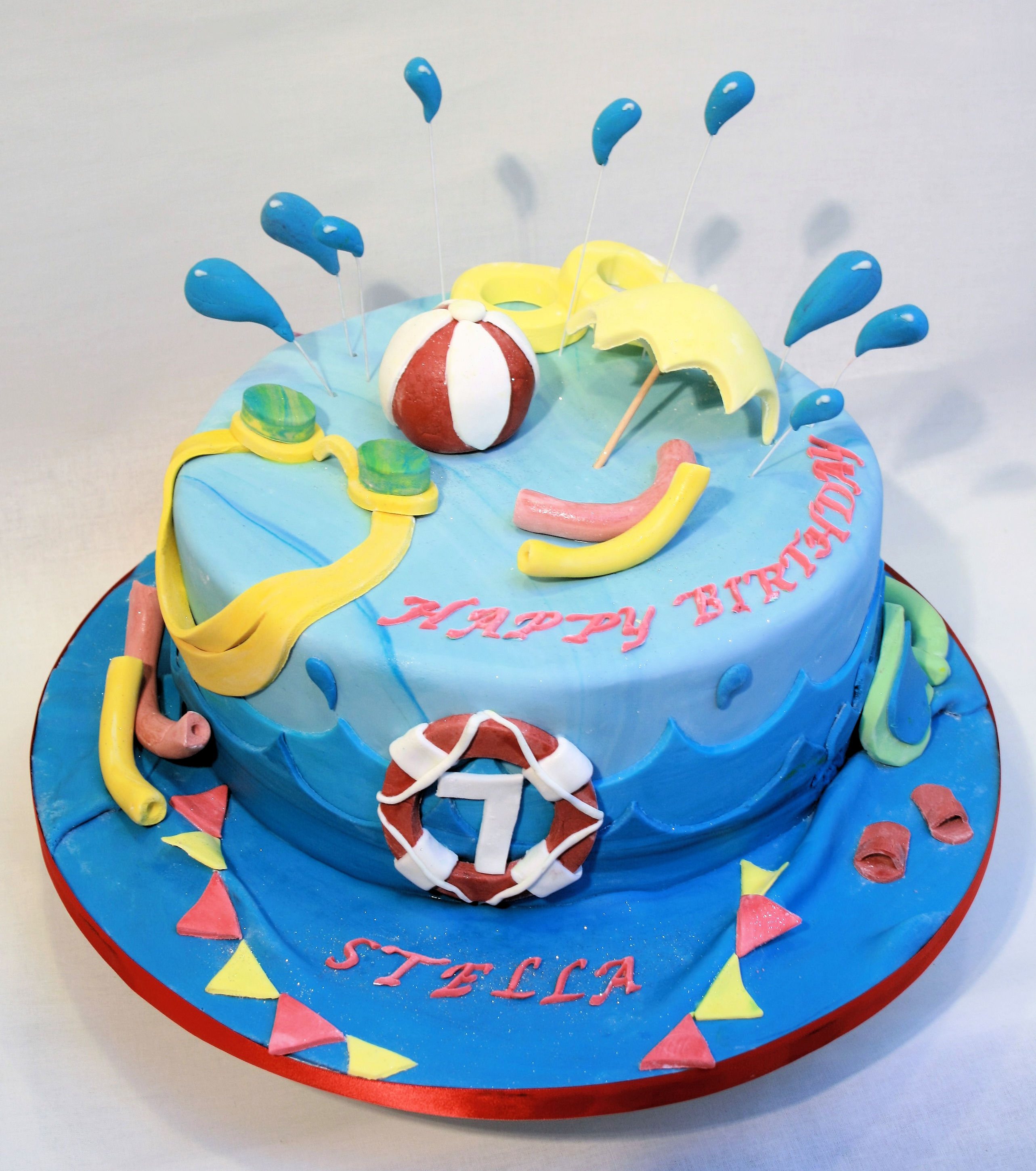 Pool Party theme cake
