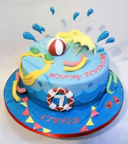 Pool Party theme cake