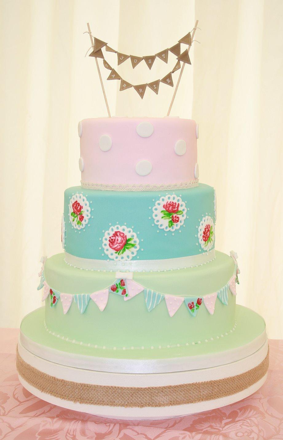 Vintage Cath Kidston Wedding Cake