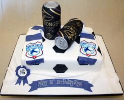 Football theme Cardiff City FC Cake