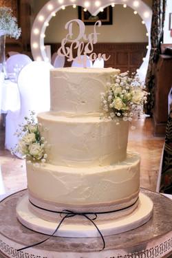 Buttercream Semi Naked Wedding cake